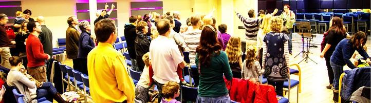 Sunday meetings at Open Door Church