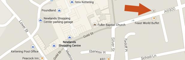 Open Door Church Kettering - Map Location